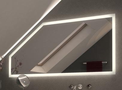 LED Spiegel für-Schräge-mit-Beleuchtung